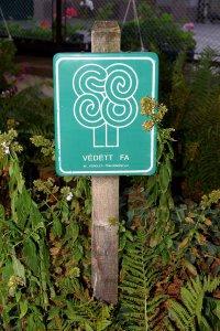 A fa védettségét tábla jelző eredeti tábla, melyet még a XII. kerület helyezett ki