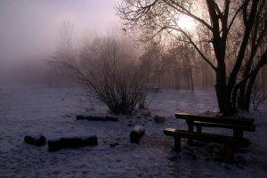 A Nagy-merzse pihenőhelye januárban
