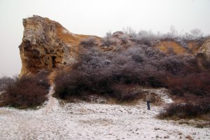 A védett terület egyik érdekes sziklaformája
