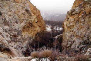 A kőfejtő felső részéről gyönyörű kilátás nyílik a főváros északi részeire